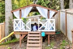 elevated playhouse tree house ideas