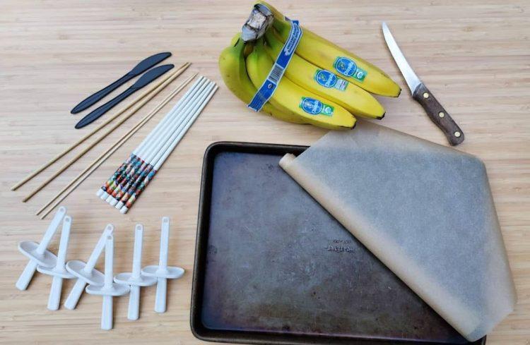 how to make frozen banana pops