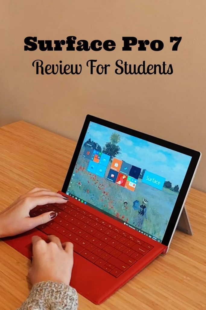 Surface Pro 7 Review for students