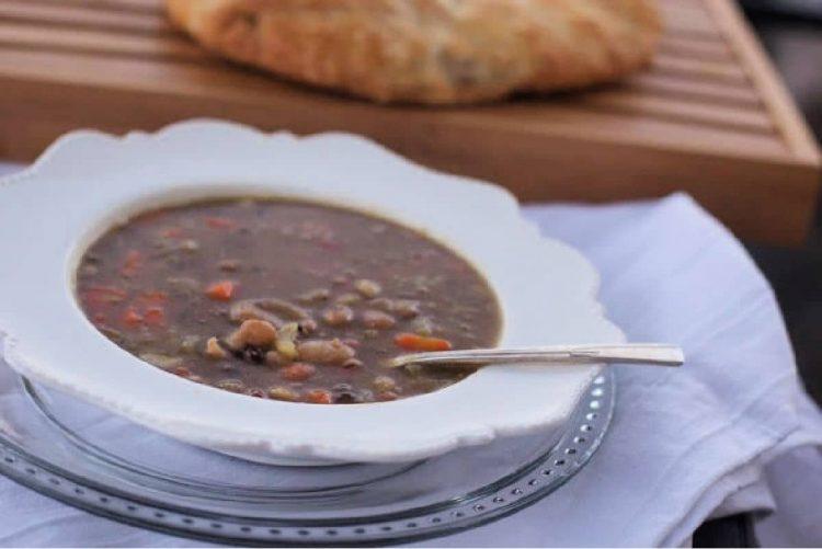 bean soup with a ham bone