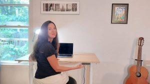 sit to stand adjustable desk